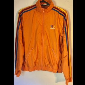 Orange Adidas zip up